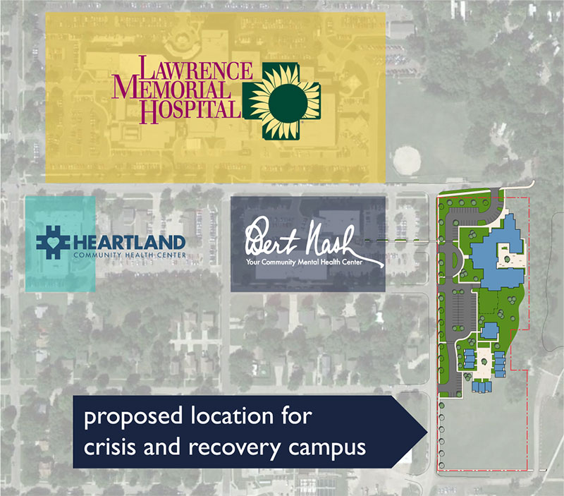 Map of proposed location of crisis and recovery campus